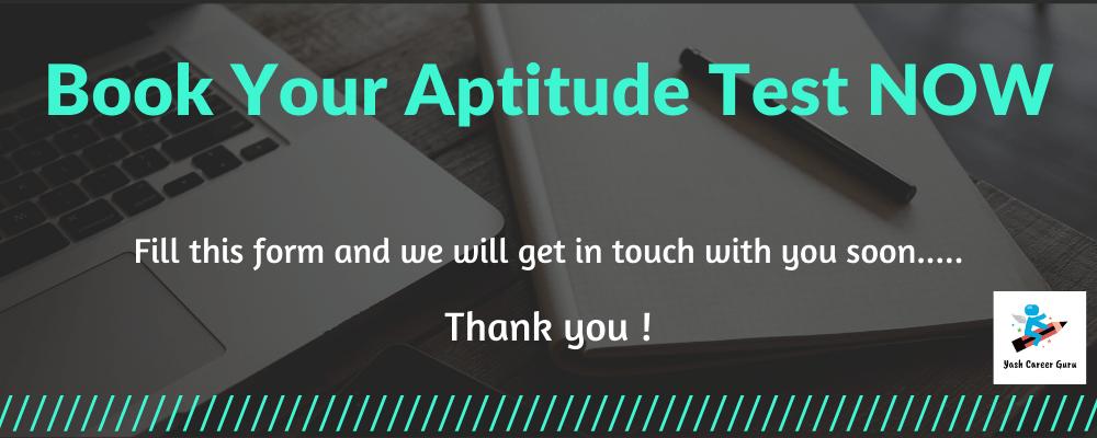 Book your aptitude test by Yash Career Guru