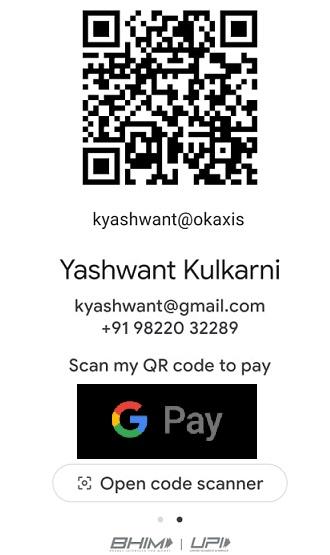 Google Pay A/c Details